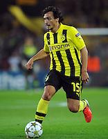 FUSSBALL   CHAMPIONS LEAGUE   SAISON 2012/2013   GRUPPENPHASE   Borussia Dortmund - Ajax Amsterdam                            18.09.2012 Mats Hummels (Borussia Dortmund) Einzelaktion am Ball