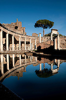 World Heritage listed Villa Adriana, Tivoli, Italy, details of the Maritime Theatre