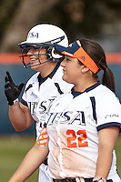 SAN ANTONIO, TX - MARCH 14, 2015: The University of North Carolina at Charlotte 49ers and the University of Texas at San Antonio Roadrunners split a double header 2-0, 2-13 at Roadrunner Field. (Photo by Jeff Huehn)