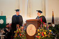 Jerome Fiekers, Ph.D., left, Rodney Parsons, Ph.D. Commencement, class of 2013.