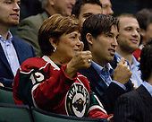 Joyce and Brian Rolston - The Minnesota Wild posed with their mothers before they with their mothers headed off on a road trip on Friday, October 12, 2007.