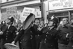 National Front march Lewisham, South London England 1977. The police are protecting the NF from left wings demonstration against their march.