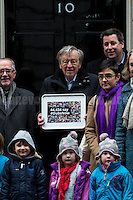 "11.02.2017 - Lord Dubs Delivers Petition to Downing St. - ""44,434 Say #DubsNow"""