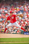 9 June 2013: Washington Nationals pitcher Jordan Zimmermann on the mound against the Minnesota Twins at Nationals Park in Washington, DC. The Nationals shut out the Twins 7-0 in the first game of their day/night double-header. Mandatory Credit: Ed Wolfstein Photo *** RAW (NEF) Image File Available ***