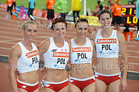 The Polish Women's 4x100m relay team at the Sainsbury Anniversary Games, Olympic Stadium, London England,Saturday 27th July 2013-Copyright owned by Jeff Thomas Photography-www.jaypics.photoshelter.com-07837 386244. No pictures must be copied or downloaded without the authorisation of the copyright owner.