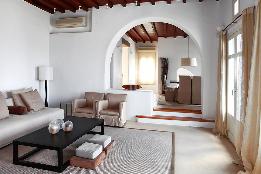 traditional living room with contemporary furniture