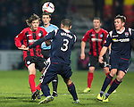 Ross County v St Johnstone....04.01.14   SPFL<br /> Murray Davidson and Ben Gordon<br /> Picture by Graeme Hart.<br /> Copyright Perthshire Picture Agency<br /> Tel: 01738 623350  Mobile: 07990 594431