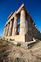 Greek Dorik Temple ruins of Temple F at Selinunte, Sicily photography, pictures, photos, images & fotos. 35