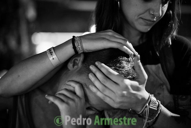 10 septiembre 2015. Melilla. <br /> &quot;Un grupo de unos 60 menores marroqu&iacute;es no acompa&ntilde;ados viven en las calles de Melilla, esperando la oportunidad de dejar la ciudad escondidos en los barcos que zarpan hacia la Pen&iacute;nsula. Debido a su situaci&oacute;n de desamparo, muchos de estos menores son consumidores de droga, sufren abusos y maltratos&quot;. &copy; Pedro Armestre/ Save the Children Handout - No sales - No Archives - Editorial Use Only - Free use only for 14 days after release. Photo provided by SAVE THE CHILDREN, distributed handout photo to be used only to illustrate news reporting or commentary on the facts or events depicted in this image.