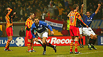 Partick Thistle v Rangers 22.12.02: Ronald de Boer runs to celebrate his winning goal