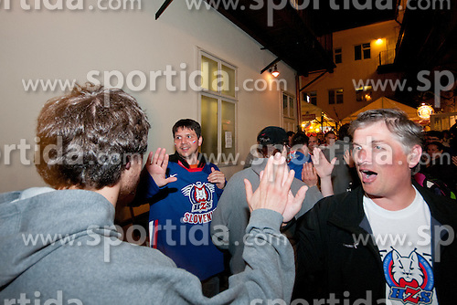 Jaka Ankerst at meeting of Slovenian hockey players with fans in Slovenian house after ice-hockey match between Russia and Slovenia of Group A of IIHF 2011 World Championship Slovakia, on May 1, 2011 in Slovenian house, Bratislava, Slovakia. (Photo by Matic Klansek Velej / Sportida)