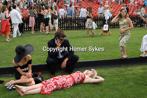 Cartier International Polo at the Guards Club, Smiths Lawn, Windsor Great park, Egham, Surrey, England . At the end of the days play.