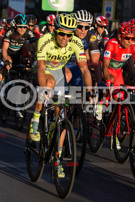 Spanish cyclist Alberto Contador of Tinkof Saxo team during the last stage or La Vuelta of Spain in Madrid. September 10, 2016. (ALTERPHOTOS/Rodrigo Jimenez) NORTEPHOTO.COM