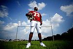South Aiken senior JerQuari Schofield poses for a portrait on a field behind the Aiken High School August 28, 2008.  KENDRICK BRINSON/STAFF.