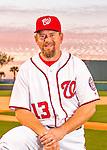 28 February 2016: Washington Nationals Third Base Coach Bob Henley poses for his Spring Training Photo-Day portrait at Space Coast Stadium in Viera, Florida. Mandatory Credit: Ed Wolfstein Photo *** RAW (NEF) Image File Available ***