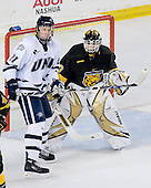James vanRiemsdyk (UNH 21), Richard Bachman (CC 30) - The University of New Hampshire Wildcats defeated the Colorado College Tigers 4-2 on Saturday, October 27, 2007, at the Whittemore Center in Durham, New Hampshire.