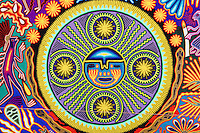 Huichol Indian yarn painting at the Mexico Fest 2012 celebrations on Sept. 8, 2012 in Vancouver, British Columbia, Canada. These celebrations commemorated 202 years of Mexican Independence.