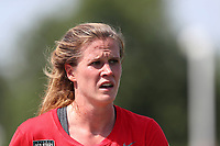 Cary, North Carolina  - Sunday May 21, 2017: Alyssa Naeher prior to a regular season National Women's Soccer League (NWSL) match between the North Carolina Courage and the Chicago Red Stars at Sahlen's Stadium at WakeMed Soccer Park. Chicago won the game 3-1.