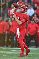 College Park, MD - NOV 12, 2016: Maryland Terrapins quarterback Caleb Rowe (7) throws from the pocket during game between Maryland and Ohio State at Capital One Field at Maryland Stadium in College Park, MD. (Photo by Phil Peters/Media Images International)