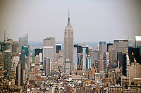 The Empire State Building is seen looking north towards Midtown from One World Trade Center in New York on Monday, April 30, 2012. (© Richard B. Levine)