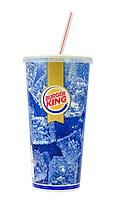 Burger King Cola Drink with Straw - Nov 2014.