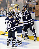 Dalton Speelman (UNH - 10), T.J. Tynan (Notre Dame - 18), Sean Lorenz (Notre Dame - 24), Jeff Silengo (UNH - 18), Shayne Taker (Notre Dame - 3) - The University of Notre Dame Fighting Irish defeated the University of New Hampshire Wildcats 2-1 in the NCAA Northeast Regional Final on Sunday, March 27, 2011, at Verizon Wireless Arena in Manchester, New Hampshire.