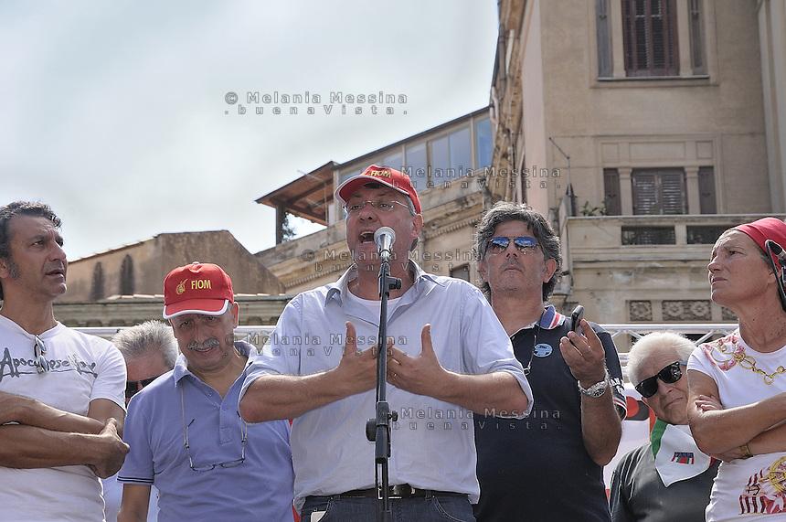 Palermo: general strike by trade unionist CGIL, Maurizio Landini.<br /> Palermo: sciopero generale indetto dalla CGIL, Maurizio Landini