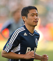 CARSON, CA - June 23, 2012: Vancouver Whitecaps defender Lee Young-Pyo (12) prior to the LA Galaxy vs Vancouver Whitecaps FC match at the Home Depot Center in Carson, California. Final score LA Galaxy 3, Vancouver Whitecaps FC 0.