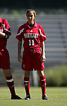 Simone Dekker, of Maryland, on Sunday, October 16th, 2005 at Duke University's Koskinen Stadium in Durham, North Carolina. The Duke University Blue Devils defeated the University of Maryland Terrapins 1-0 during an NCAA Division I Women's Soccer game.