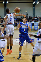 Izayah Mauriohooho-Le'afa in action during the NBL - Wellington Saints v Nelson Giants at TSB Bank Arena, Queens Wharf, Wellington, New Zealand on Friday  2 May 2014. <br /> Photo by Masanori Udagawa. <br /> www.photowellington.photoshelter.com.