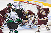 Brett Motherwell, Chris Porter, Rylan Kaip, Cory Schneider, Nathan Gerbe - The Boston College Eagles defeated the University of North Dakota Fighting Sioux 6-5 on Thursday, April 6, 2006, in the 2006 Frozen Four afternoon Semi-Final at the Bradley Center in Milwaukee, Wisconsin.