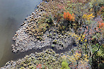 A section of Rogers Island seen from the Rip VanWinkle Bridge over the Hudson River, at Catskill, NY. on Tuesday, October 15, 2013. Photo by Jim Peppler. Copyright Jim Peppler 2013 all rights reserved.