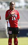NC State's Briana Cunningham on Sunday, October 1st, 2006 at Koskinen Stadium in Durham, North Carolina. The Duke Blue Devils defeated the North Carolina State University Wolfpack 3-0 in an Atlantic Coast Conference NCAA Division I Women's Soccer game.