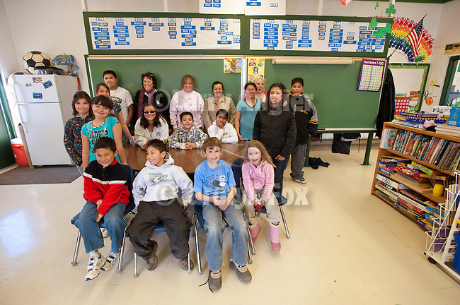 School group photo at the one-room school in Kings River Crossing, Nev.