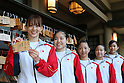 Rie Tanaka (JPN), July 2, 2011 - Artistic Gymnastics : Japanese Gymnast Rie Tanaka poses with her Votive picture. Japanese Artistic Gymnastics team member visited the Togo shrine, pray for the London Olympics in Tokyo, Japan.  (Photo by Yusuke Nakanishi/AFLO SPORT)
