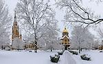 1.5.14 Main Quad Snow.JPG by Matt Cashore/University of Notre Dame