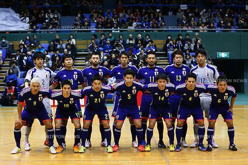 Japan National team group line-up, <br /> DECEMBER 18, 2014 - Futsal : International Friendly Match between Japan 1-1 Croatia at Komazawa gymnasium, Tokyo, Japan. (Photo by AFLO SPORT) [1180]