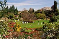 Vancouver, BC, British Columbia, Canada - Tourists visiting Queen Elizabeth Park, Bloedel Floral Conservatory, Spring