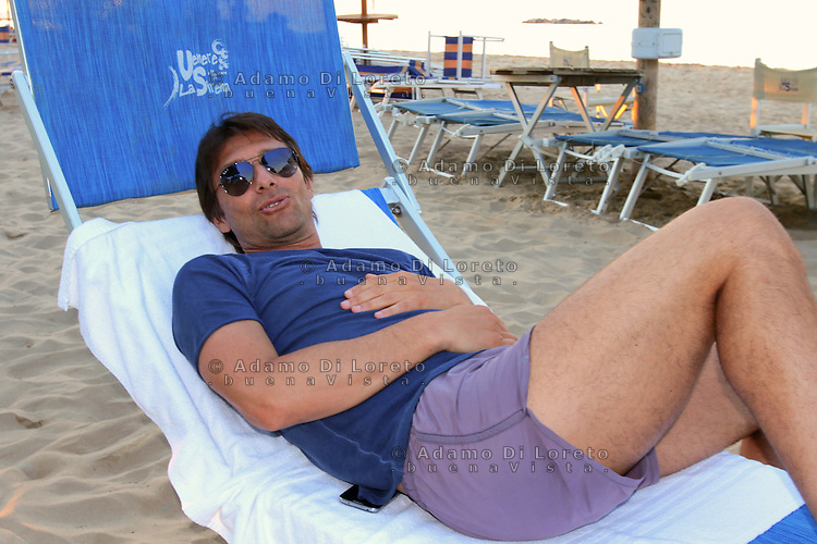 Antonio Conte, Trainer of the italian team soccer, during his holiday in Pescara, Abruzzo, on July, 2015. Photo: Di Loreto/Lattanzio/BuenaVista*Photo