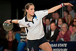 14 APR 2012: Danielle McEwan (91) of Fairleigh Dickson winds up for a throw during the Division I Womens Bowling Championship held at Freeway Lanes in Wickliffe, OH.  The University of Maryland Eastern Shore defeated Fairleigh Dickinson 4-2 to win the national title.  Jason Miller/NCAA Photos