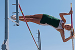 Eagle junior Allison Jeffries vaults during the 5A Idaho Track and Field Championships on May 18, 2012 at Rocky Mountain High School, Meridian, Idaho. Jeffries defended her state title with a vault of 12-00.