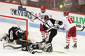 Erik Foley (PC - 12), Hayden Hawkey (PC - 31), Bobo Carpenter (BU - 14), Jacob Bryson (PC - 18), Nick Roberto (BU - 15) - The Boston University Terriers tied the visiting Providence College Friars 2-2 on Saturday, December 3, 2016, at Agganis Arena in Boston, Massachusetts.
