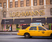 A Loehmann's department store in the Chelsea neighborhood of New York on Wednesday, January 8, 2014.The women's clothing retailer is reported to have filed for bankruptcy protection for the third time. The off-price merchandiser is facing the same problems that besieged its defunct rivals, Sym's, Filene's and Daffy's, the production of goods has been streamlined by computerization resulting in less excess inventory that manufacturers must unload.  (© Richard B. Levine)