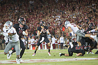 STANFORD, CA - October 8, 2016: Ryan Burns at Stanford Stadium. The Washington State Cougars defeated the Cardinal 42-16.