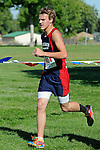 New Plymouth sophomore Cameron Arnzen during the NNU Invite at West Park in Nampa, ID on September 11, 2010. Arnzen completed the 5k course in 19:19.74.