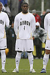 13 December 2009: Akron's Kofi Sarkodie. The University of Virginia Cavaliers defeated the University of Akron Zips 3-2 on penalty kicks after playing to a 0-0 overtime tie at WakeMed Soccer Stadium in Cary, North Carolina in the NCAA Division I Men's College Cup Championship game.
