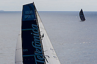 BRAZIL, Itajai. 6th April 2012. Volvo Ocean Race, Leg 5, Auckland-Itajai. Telefonica chases Puma Ocean Racing powered by Berg.