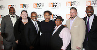"NEW YORK, NY-September 30:Jelani Cobb, Lisa Graves, Khalil Gibran Muhammed, Director Ava DuVernay, Malkia Cyril, Kevin Gannon and Van Jones at 54th New York Film Festival - Opening Night Gala Presentation And ""13th"" World Premiere at Alice Tully Hall at Lincoln Center in New York. September 30, 2016. Credit:RW/MediaPunch"