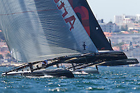 PORTUGAL, Cascais. 5th August 2011. America's Cup World Series. Practice day. ARTEMIS RACING.