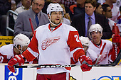 Ruslan Salei (Detroit Red Wings, #24) during ice-hockey match between Los Angeles Kings and Detroit Red Wings in NHL league, February 28, 2011 at Staples Center, Los Angeles, USA. (Photo By Matic Klansek Velej / Sportida.com)
